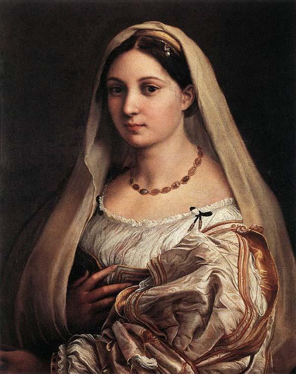 "Raphael, ""Woman with a veil (La Donna Velata)"", Galleria Palatina"