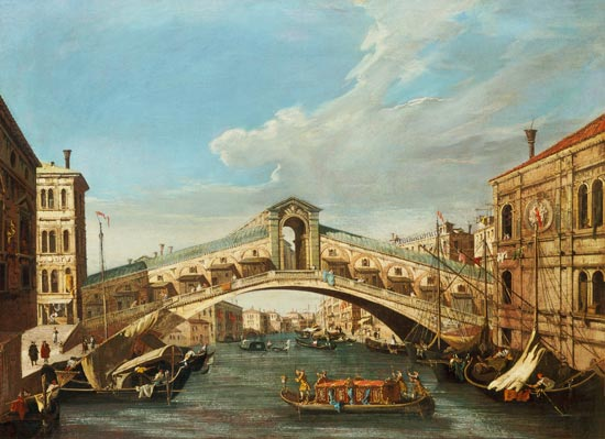 (The Rialto Bridge) by Giovanni Antonio Canal