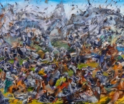 "Ali Banisadr ""Hypocrisy"" Medium: mixed media on canvas."