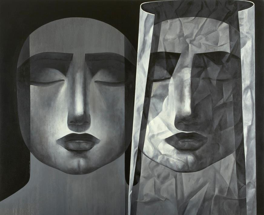 Safwan Dahoul. Medium: Acrylic on Canvas. 180x220cm