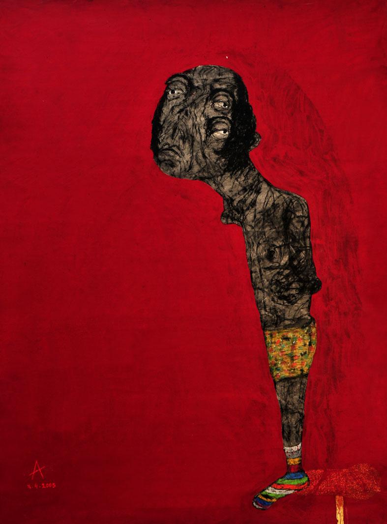Sabhan Adam 'Untitled' Mixed media on canvas210 x 157 cm, 2005.