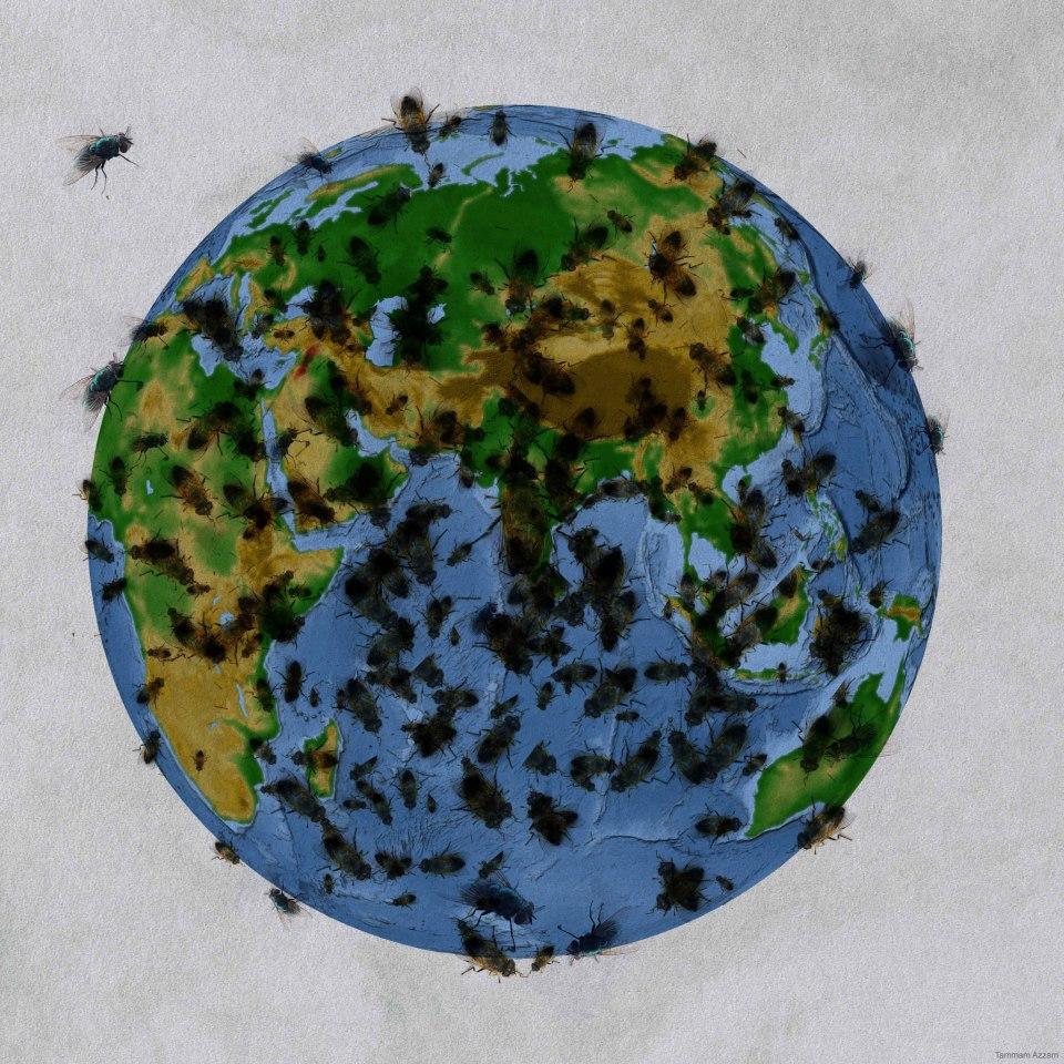 Tammam Azzam 'Beatiful World!', digital art, 2012.
