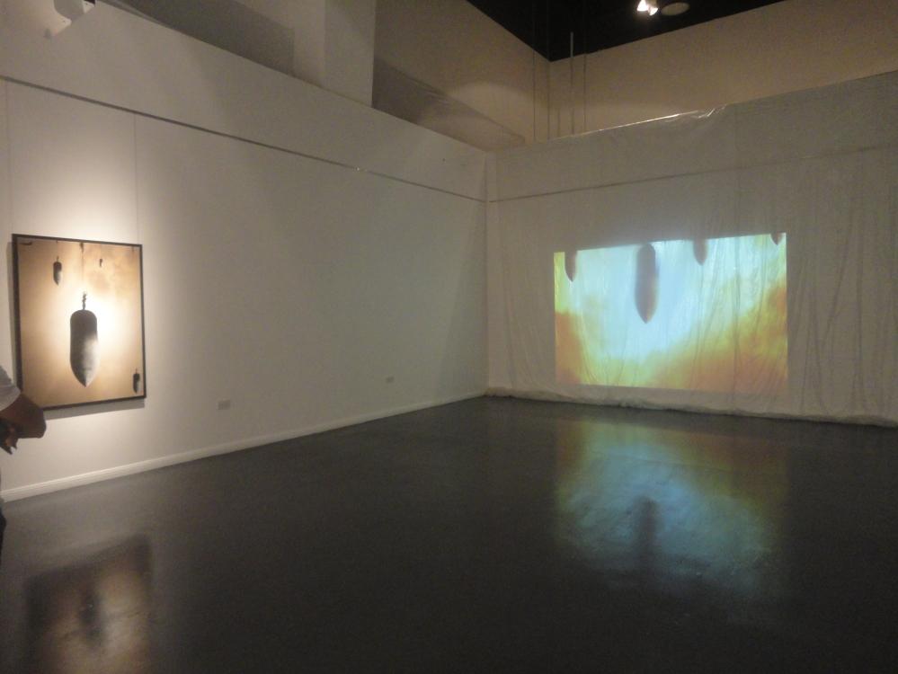 Tammam Azzam 'Truce', digital art, 2012 (left) - 'Truce', video art (right).