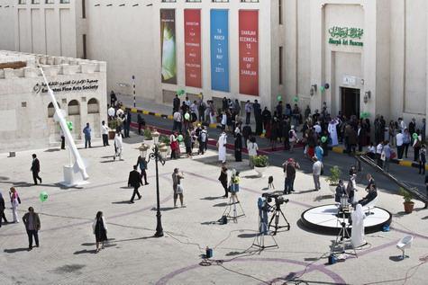 A scene from Sharjah Biennale last year
