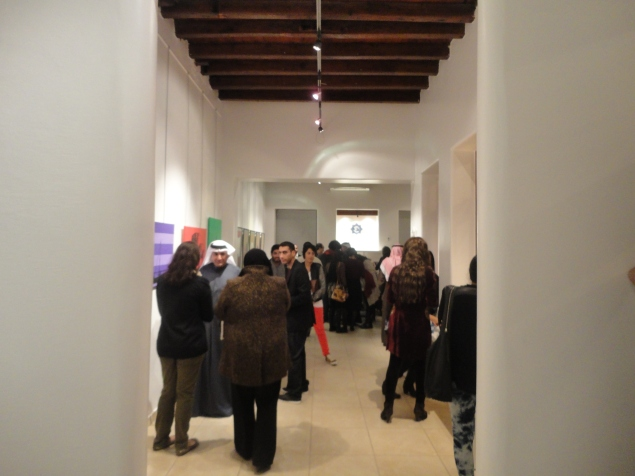 Crowd at Dar Al Funoon 3rd Affordable Art Show