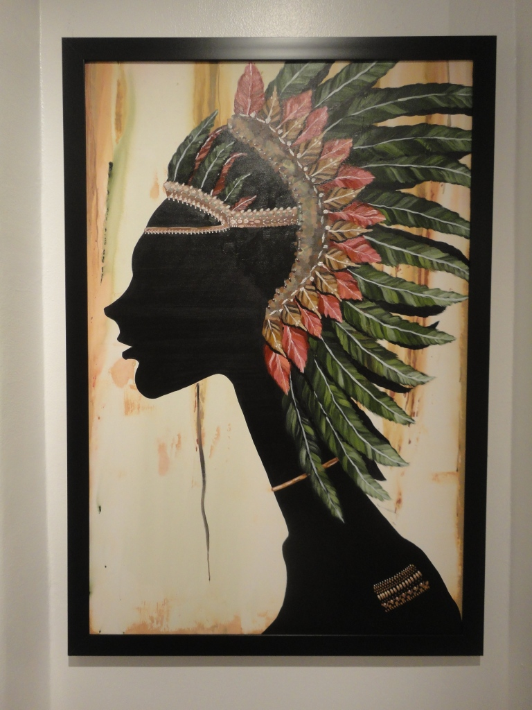 Yousef Al Qaud 'Adorned' Acrylic on Canvas.