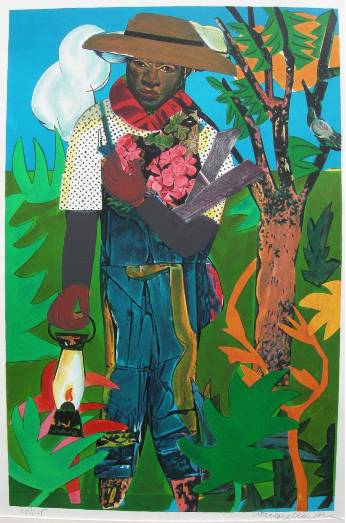 Romare Bearden (1911-1988) 'The Lantern' Color lithograph 1979 Ed 175. Curtsey to Tobey C. Moss Gallery.