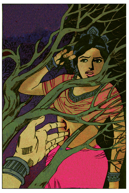 Chitra Ganesh 'She the Question Fingers and Branches'