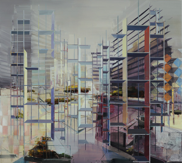 Driss Ouadahi 'Ainsi Soit Elle' Oil on canvas.180 x 200cm.