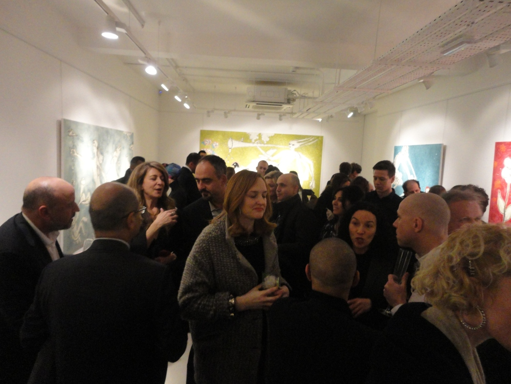 Opening night of Ayyam London 'Shooting the Cloud' by Nadim Karam
