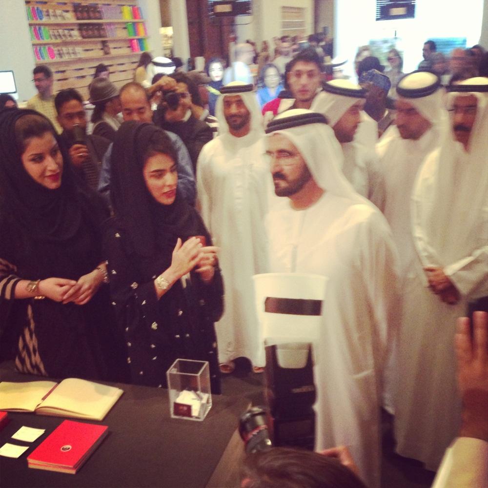 Sheikh Mohammed Bin Rashed at Art Dubai Courtesy: Al Mahha Art Blog