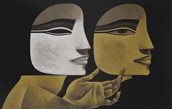 Safwan Dahoul 'Reve 16' Acrylic on canvas, Courtesy: Christie's