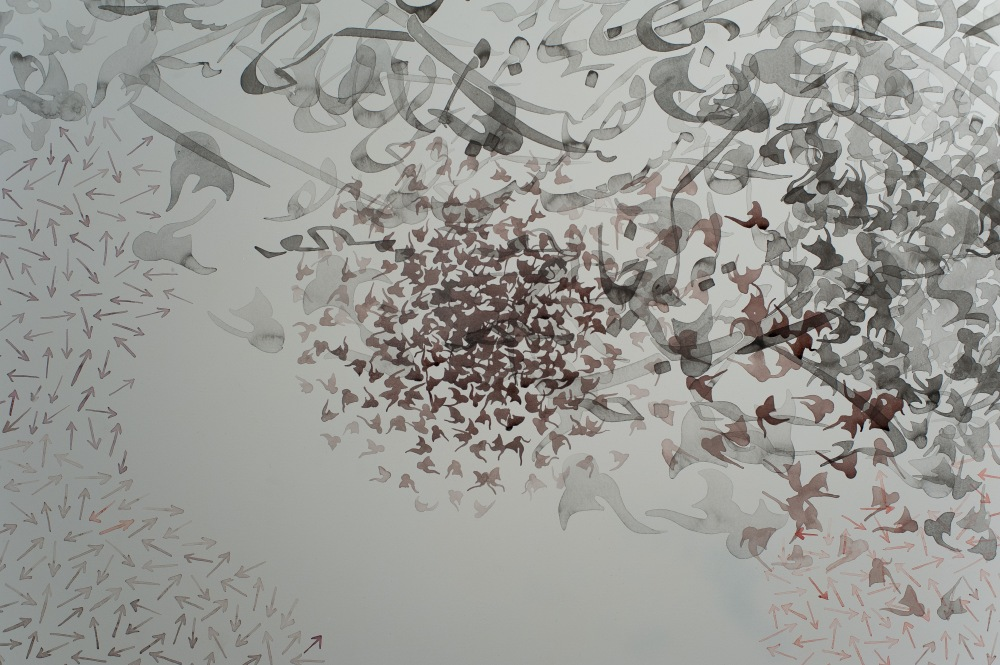 Shahzia Sikander 'Work in progress' Courtesy of the artist and Pilar Corrias