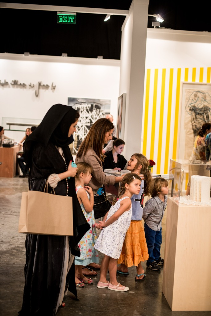 Schools tours in Art Dubai. Courtesy: Art Dubai 2013