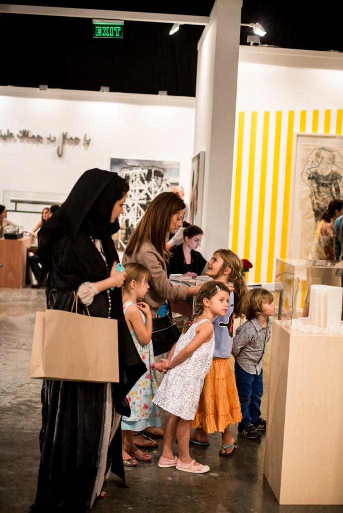 Schools tours in Art Dubai. Courtesy: Art Dubai 2013