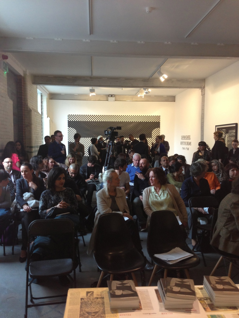 The audience in 'Repetitive Dream' Talk at Edge of Arabia. Courtesy: Al Mahha Art Blog
