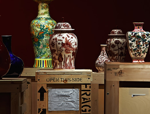 Vases by Meekyoung Shin. Courtesy: Sumarria Lunn Gallery
