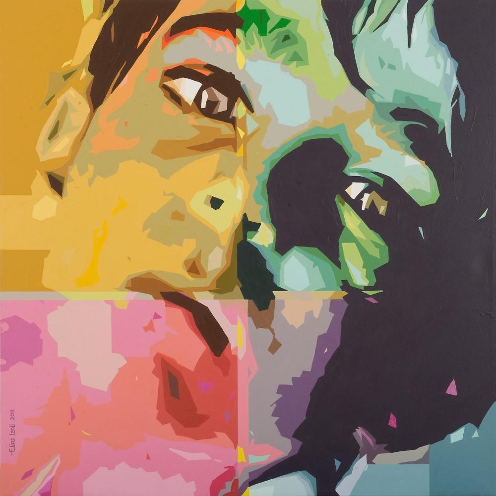 Elias Izoli, Untitled, acrylic on canvas,150 x 150 cm, 2011. Courtesy: Ayyam Gallery