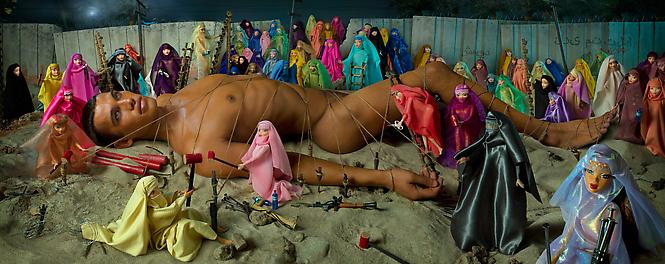 "David LaChapelle, ""Would Be Martyr and 72 Virgins"" 2008, Chromogenic print, 119 x 305 cm. Edition of 6 + 3 AP"