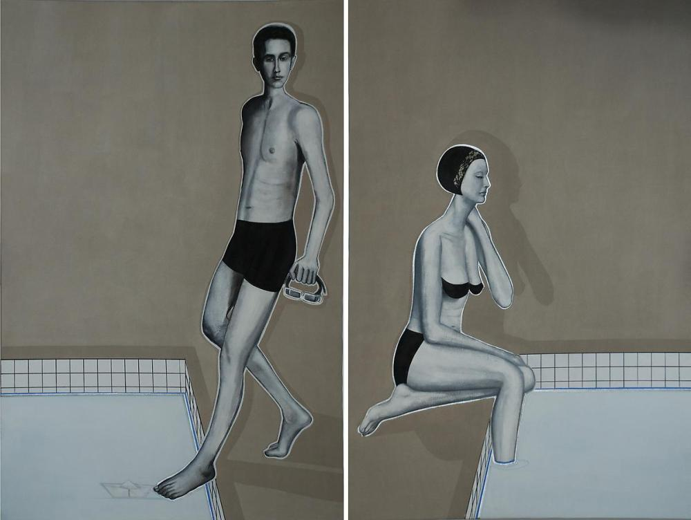 Khaled Takreti, 'Love Boat', 2011,  Acrylic on Canvas, , 195 x 260 cm. Courtesy: Ayyam Gallery