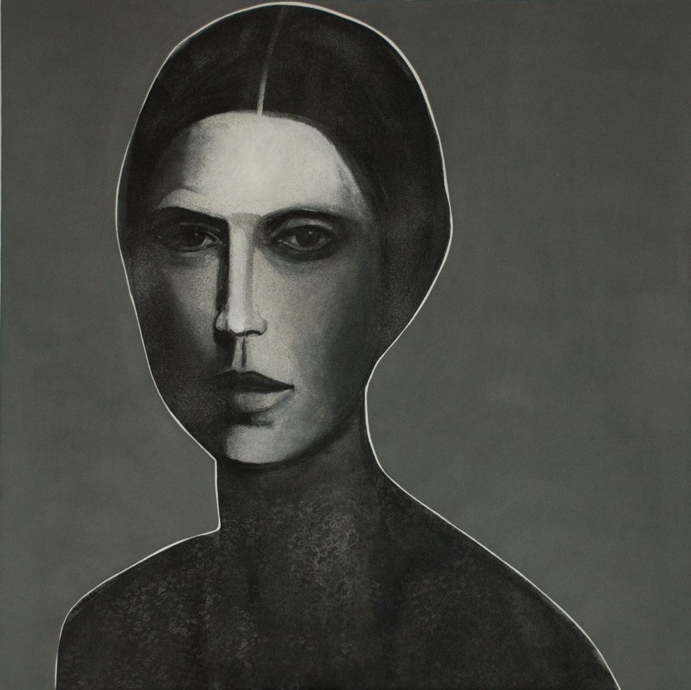 Khaled Takreti 'Portrait' 2011 Acrylic on Canvas, 150 X 150 cm.