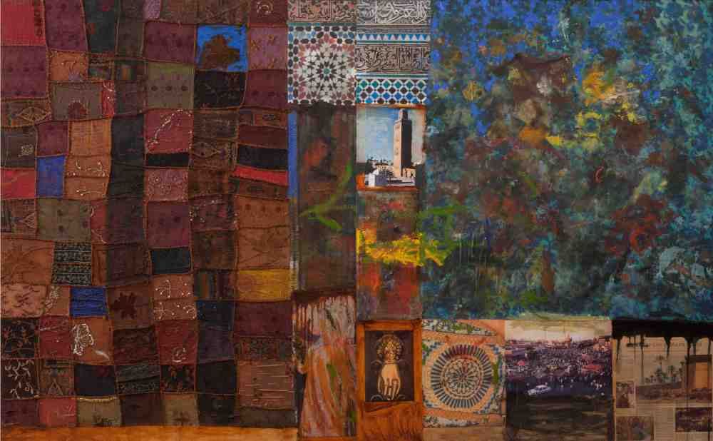 Mohammed-omer-Khalil-Marrakesh-243x-152-cm-Diptych-Mixed-Media-on-Wood2010