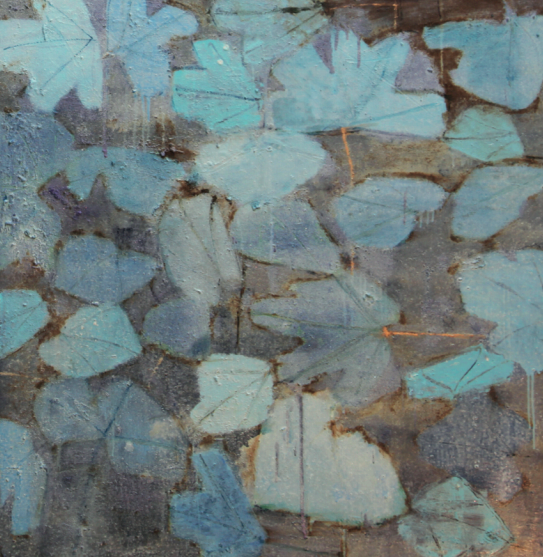 Reza Derakshani, details from 'every blue day' painting. Courtesy: dar al funoon