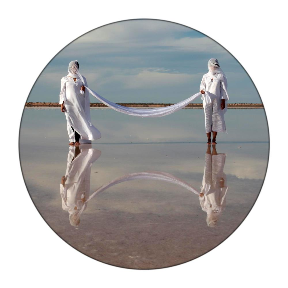 SAMA ALSHAIBI, 'SEBKHET EL MELAH' FROM THE PROJECT SILSILA, 2010, C-PRINT DIASEC, 120CM DIAMETER, COURTESY OF THE ARTIST AND AYYAM GALLERY