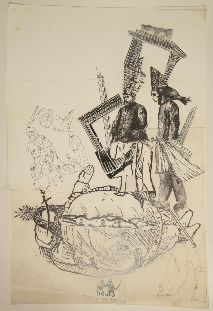 Ardeshir Mohasses, Untitled,, 1988, Collage on paper, 45.75 x 68.5 cm, Ardeshir Mohasses Trust (1)