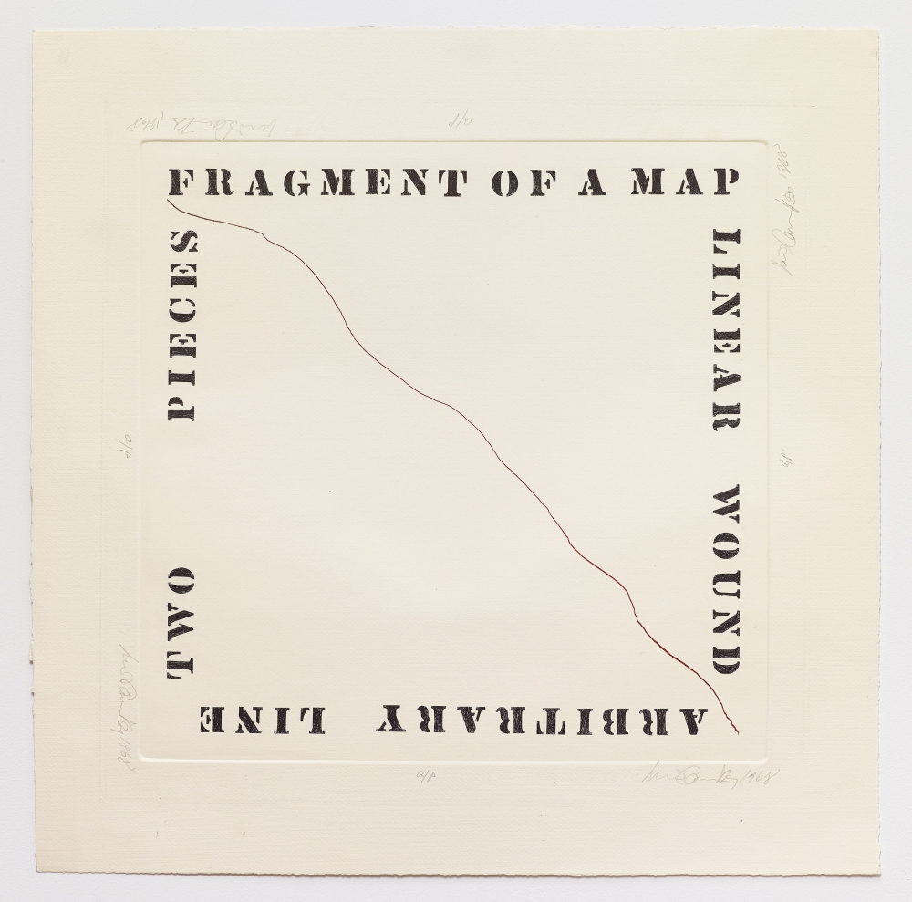 Luis Camnitzer,Fragment of a Map,1968,60.5h x 59.7w cm,Alexander Gray Associates, New York