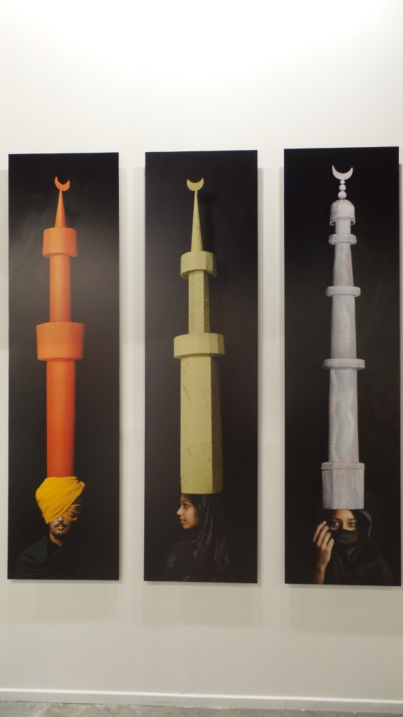 "Maimouna Guerresi ""Minarets"" 2012. Archival pigment prints on aluminium. 200x54 cm. TASVEER GALLERY (New Delhi / Bangalore, India) Art Dubai 2014 (Courtesy: Al Mahha Art)"