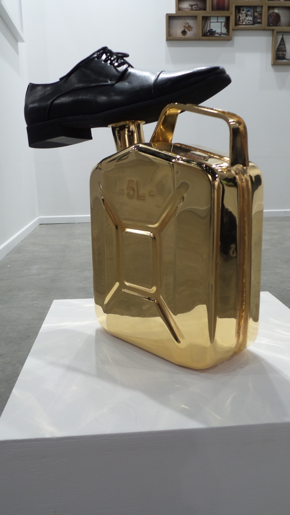 artwork by Pascal Hachem at SELMA FERIANI GALLERY. Art Dubai 2014 (Courtesy: Al Mahha Art)
