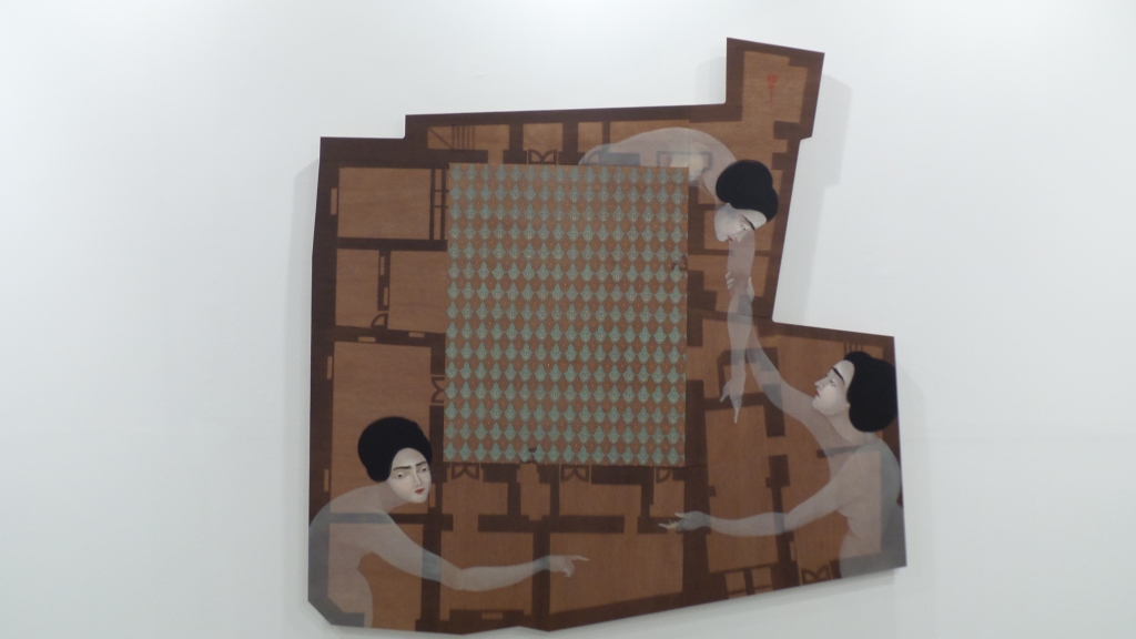 artwork by Hayv Kahraman at The Third Line, Art Dubai 2014 (Courtesy: Al Mahha Art)