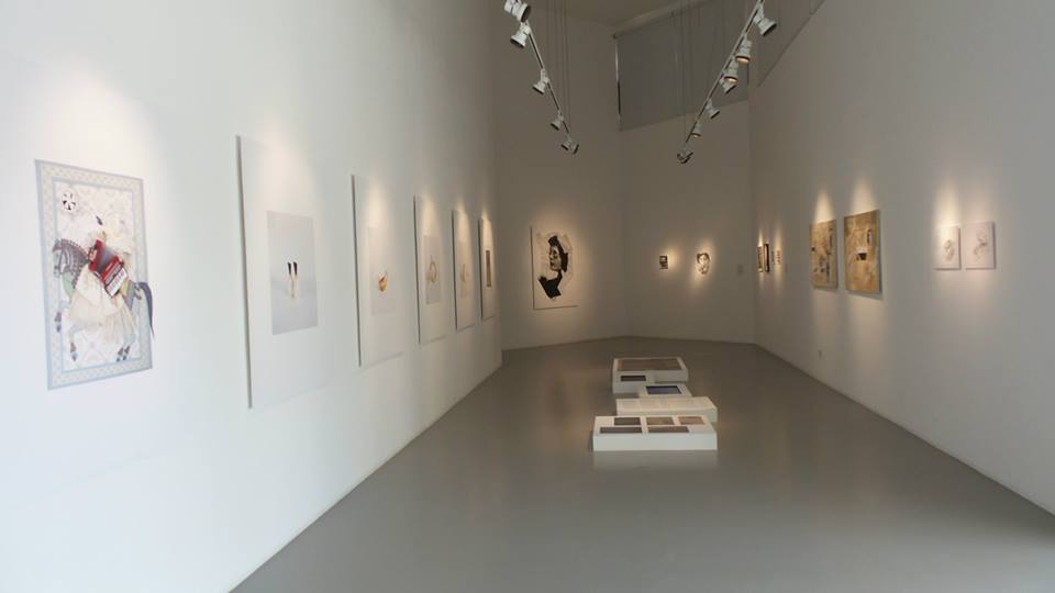 "Part of ""Turning Points"" Exhibition at Tashkeel. Courtesy to Al Mahha Art"