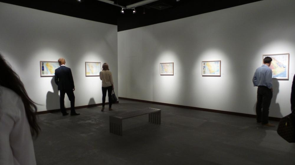Manal Al Dowayan at Cuadro Art Gallery. DIFC Art Night 2014. Courtesy Al Mahha Art
