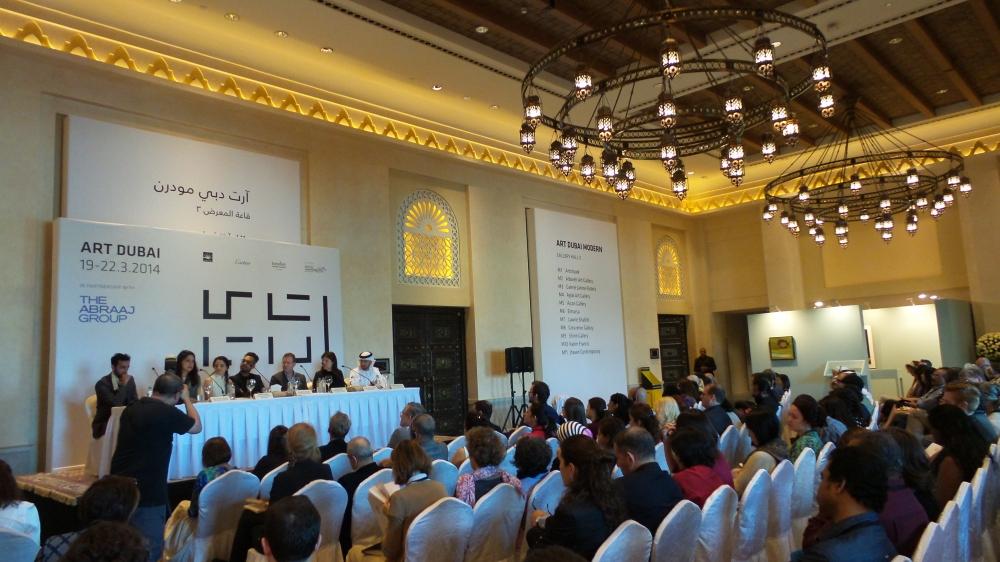 Art Dubai Press Conference. Courtesy to Al Mahha Art