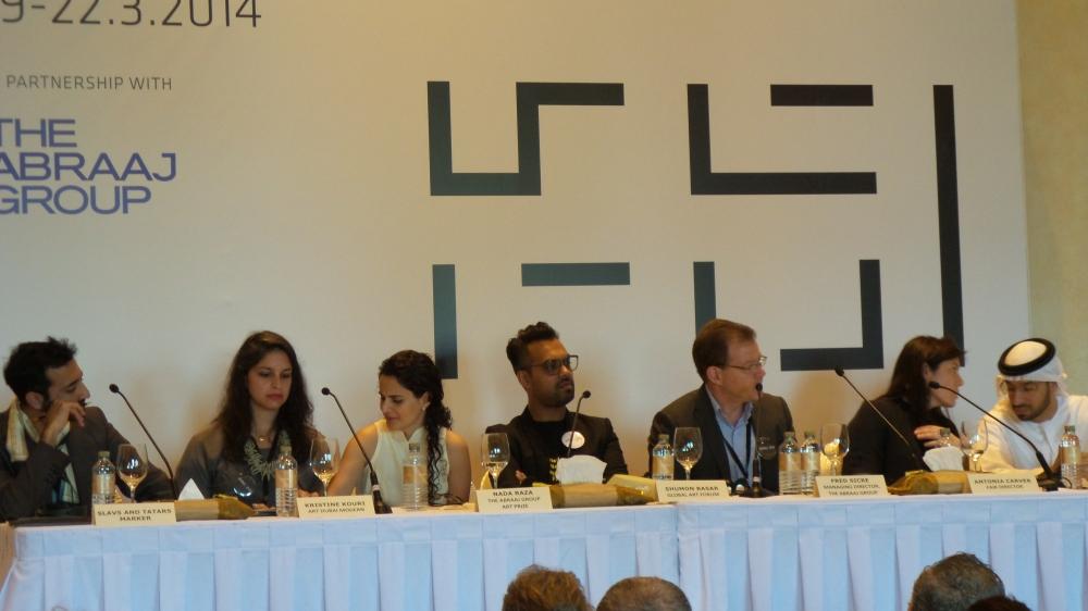 Speakers at Art Dubai Press Conference. Courtesy to Al Mahha Art