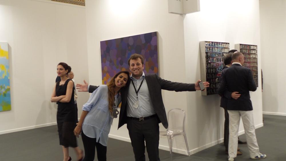 Ayyam Gallery Team: Hisham Samawi and Minna J. Apostolovic at Art Dubai Private Viewing Night. Courtesy to Al Mahha Art