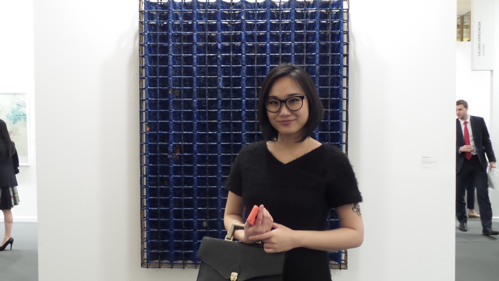 The lady who runs the world with her smile! Gallery & Project Manager at Art Basel ‎Angelle Siyang-Le. Courtesy: Al Mahha Art