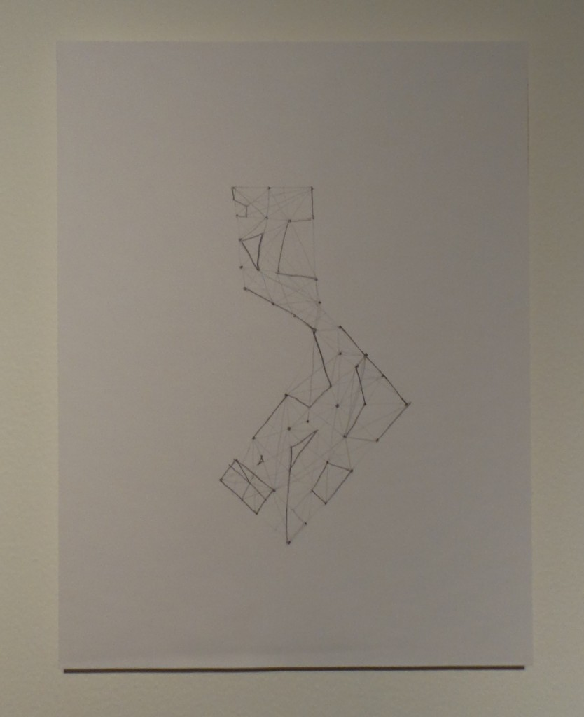"Layla Juma ""Points  Connection Lines"" 2012 to present, pencil on paper, 21x27.8 cm. Courtesy to Al Mahha Art"