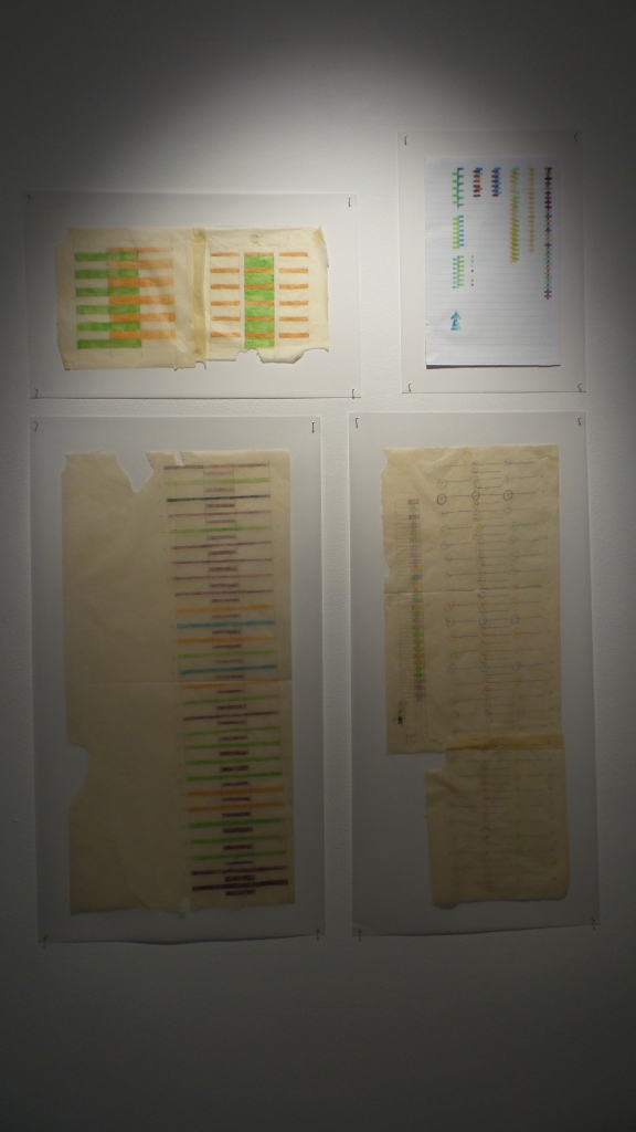 "Maitha Demithan ""Visual Maps"" 2013, drawings on paper, size varuable. Courtesy to Al Mahha Art"