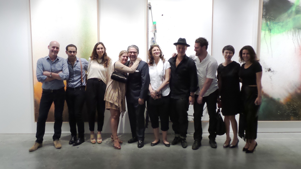 More than love! Everyone gathered for a group photo to Al Mahha Art after the opening of ZHIVAGO DUNCAN
