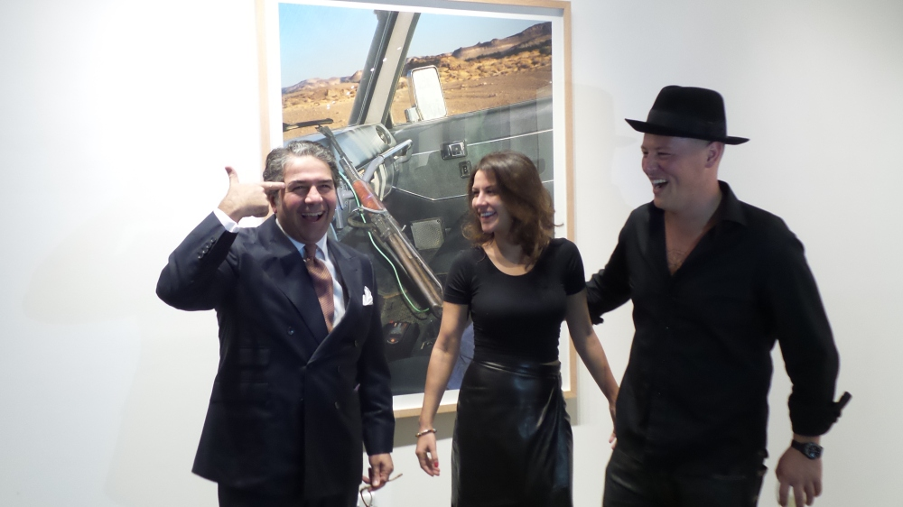 Ramin Salsali, Lulu Al Sabah and ZHIVAGO DUNCAN. Courtesy to Al Mahha Art