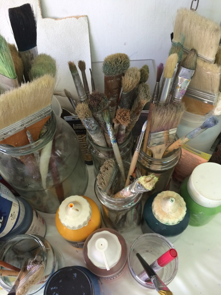 brushes... paints...