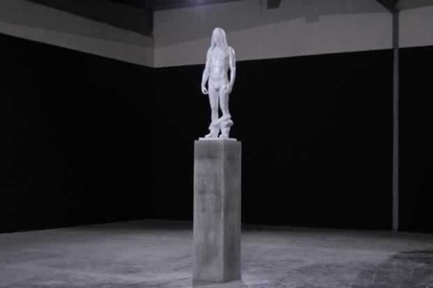 "Reza Aramesh ""Action 137"" 2014 - installed Dubai. Courtesy: Leila Heller Gallery"