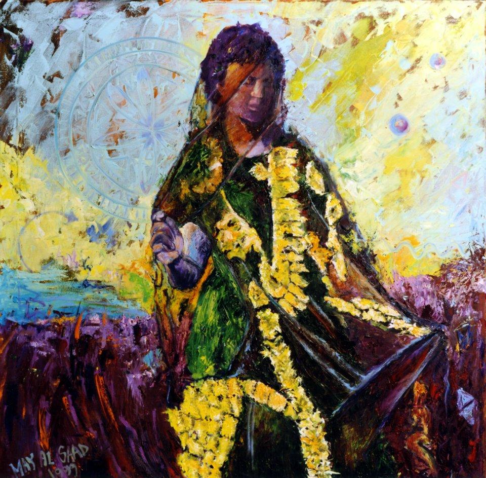 "May AlSaad ""Samri"" 1999, Oil on Canvas. Courtesy of artist."
